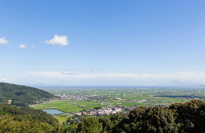 白木パノラマ孔園からの眺望